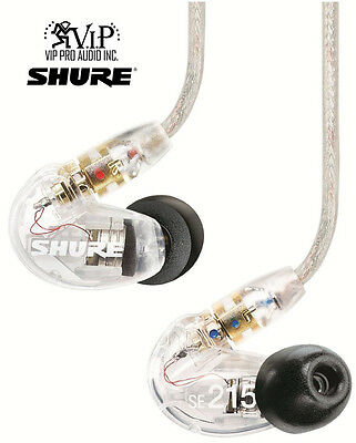 Shure *SE215-CL Clear Sound Isolating In-Ear DJ Monitoring Headphones/Earphones
