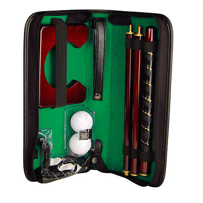 SET DA GOLF DA UFFICIO o casa CUSTODIA similpelle CON BUCA MAZZA PALLE GOLF new