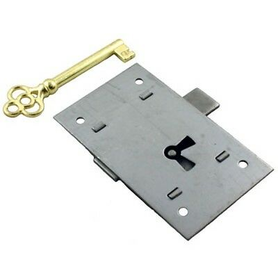 L-2 Flush Mount Steel Cabinet Door Lock & Skeleton Key