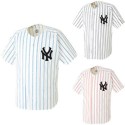 NY New York Yankees Slim Baseball Jersey Open T-Shirts Team Sports Wear Top Tees