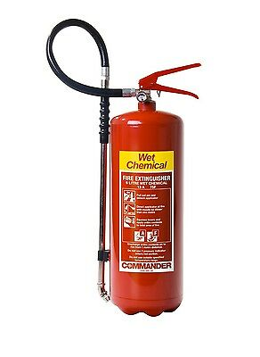 New 6 Litre Wet Chemical Fire Extinguisher - Fast Shipping - 6L/6Ltr