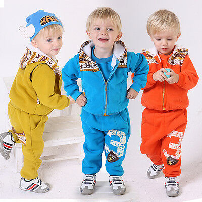 Toddler Boy 3PC Outfit Sets Sport Style Deerlet Snowsuit Size 1-4 years Old!