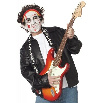 Halloween Rockstar.Rockstar Costume Mask Adult Zombie Celebrity Funny Halloween Fancy Dress