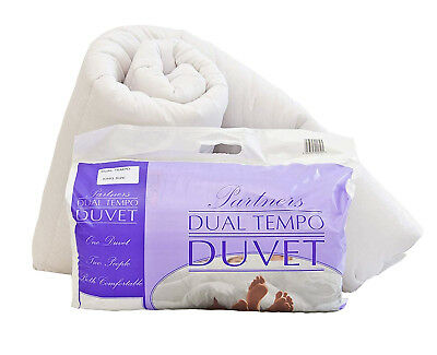 Luxury His and Hers 14 & 7 Tog Partner Dual Duvet, Soft Quilt - Made in UK