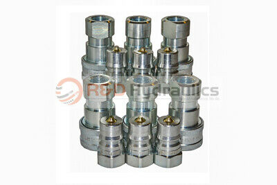 """6 Sets of 1/2"""" ISO-B Hydraulic Quick Couplers"""