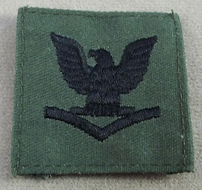US Navy Subdued Cloth Cap Device Petty Officer 3rd Class