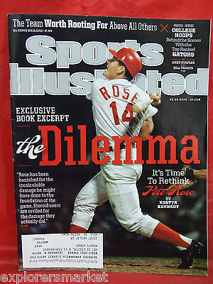 Sports Illustrated Pete Rose THE Dilemma March 10 2014 SI Florida Gators