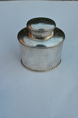 Magnificent Antique Sterling Silver Tea Caddy, Maker: H.a.