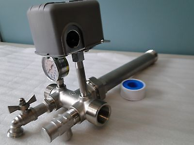STAINLESS 1x11 UNION TEE KIT WATER PRESSURE TANK PUMP 3050 SQUARED M4 PROTECTION