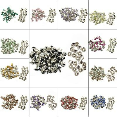 10 x 10mm Diamante Rivets for Leather Craft - Many Different Acrylic Colours