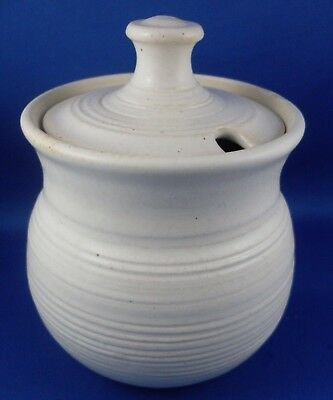 Nice VG - 'JANE LAWRY HANDCRAFTED STONEWARE POTTERY SUGAR' - In Australia!