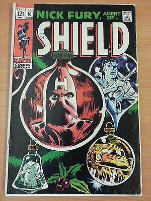 Nick Fury, Agent of SHIELD #10 ~ FINE - VERY FINE VF ~ 1969 MARVEL COMICS