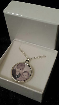 Personalised MADE TO ORDER necklace ANY photo picture pendant & chain gift