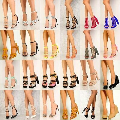 100 % WHOLESALE LOT Womens Fashion High Heel Platform Wedge Pumps sandals shoes