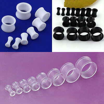 Acrylic Hollow Drum Flare Ear Plug Flesh Tunnels Expander Stretcher Punk Gauges