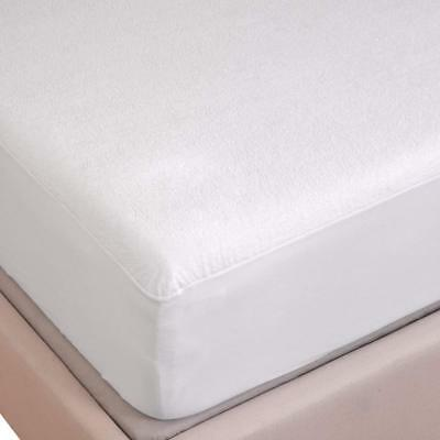 White Waterproof Flannelette Fitted Sheet Mattress Protector 100% Brushed Cotton