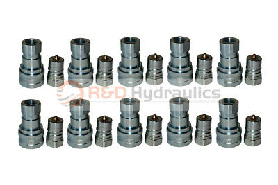 """10 Sets of 3/4"""" ISO-B Hydraulic Quick Couplers"""