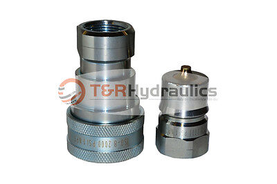 """8 Sets of 1"""" ISO-B Hydraulic Quick Couplers"""