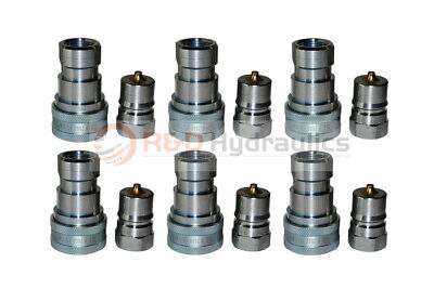 """6 Sets of 1"""" ISO-B Hydraulic Quick Couplers"""