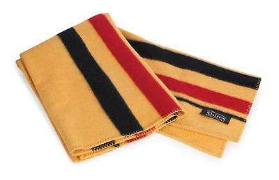 SHIRES NEWMARKET BLANKET 90 stripe wool exercise sheet rug - yellow / black/ red