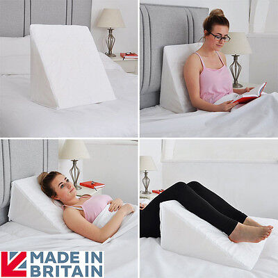 Foam Bed Wedge with Quilted Cover Multi Purpose Cushion Back Neck Leg Support