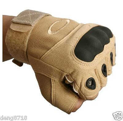 Military Tactical Camping Airsoft Hunting Shooting Motorcycle Glove Half Finger
