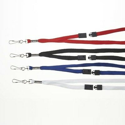 Plain Lanyards With Spring Clip and Breakaway Fastening X 50