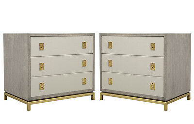 Pair of Custom Deco Influenced Bachelor Nightstand Chests