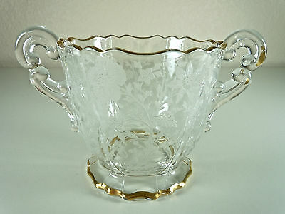 Cambridge Wildflower Open Footed Sugar Bowl  3400/68