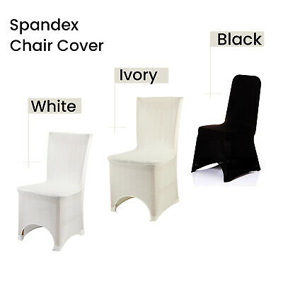Spandex Chair Cover Lyrca White / Black Covers Banquet Wedding Reception Party
