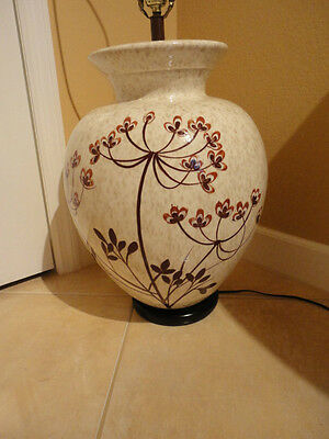 Large Vintage MCM Pottery Table Lamp-Hollywood Regency Asian / Oriental style