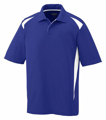 Augusta Sportswear Men's Moisture Wicking Three Button Premier Polo Shirt. 5012