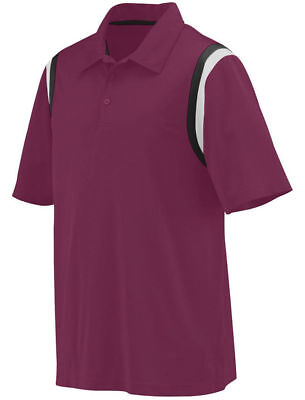 Augusta Sportswear Men's Moisture Wicking Three Button Genesis Polo Shirt. 5047