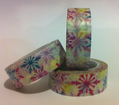 Washi Tape Rainbow Snowflakes 15Mm X 10Mtrs Scrap Plan Craft Wrap Journal
