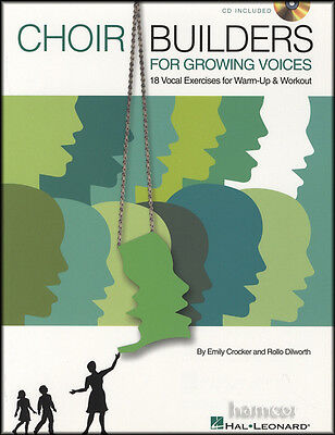 Choir Builders for Growing Voices 1 Book/CD Warm-Up & Workout Vocal Exercises