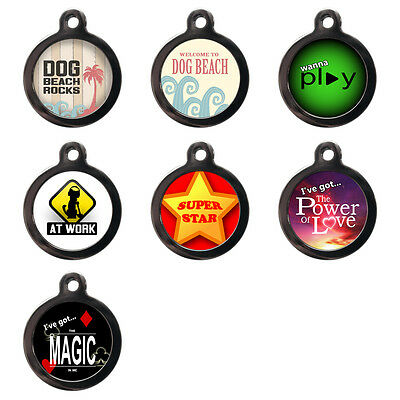 Cute Pet Dog Cat Name ID Tag For Collar Pet Tags Disc - Engraved FREE