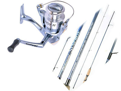 """Shakespeare Synergy Soft Plastic Spin Combo 6'6"""" 2-4kg  1 piece ROD & REEL"""