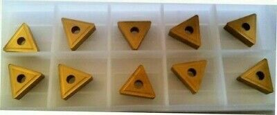 10 New TNMG 332 Gold Carbide Inserts Lathe Made by PRAMET (A SECO Company)