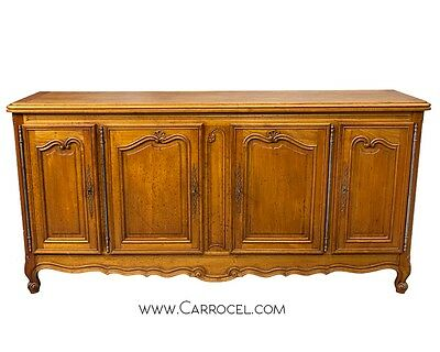 Antique French Country Style Sideboard Buffet Solid Cherry France