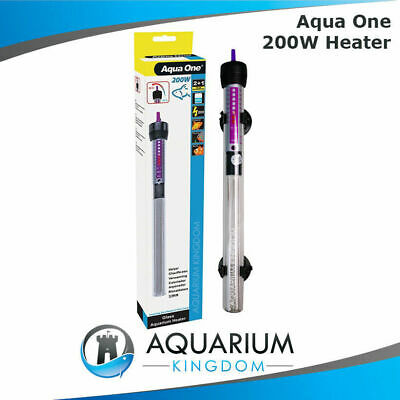 Aqua One 200W Glass Heater Aquarium - 200 Watt - Fish Tank Automatic Thermostat