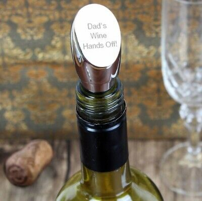 Personalised Engraved Silver Plated Wine Bottle Stopper - Wedding Gift Idea