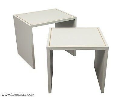 Custom Made by Carrocel Modern Lacquered Gold Leaf Accent Set of Nesting Tables