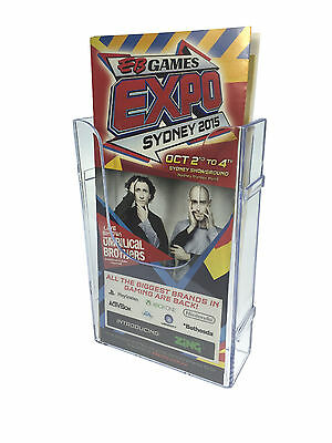 Wall Mounted DL Size Brochure Holder EXTENDABLE