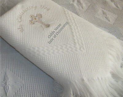 Personalised Holy Baptism or Christening Shawl