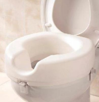 "Raised Toilet Seat 5"" Elevated Toileting Mobility Disability Elderly Care Aid"