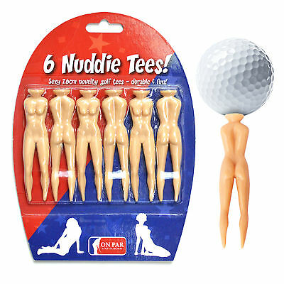 Golf Joke Tees Funny Nuddie Nude Lady Novelty - Gift Packed *Various Pack Qtys*