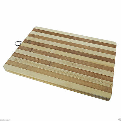 New Large Bamboo Wooden Chopping Board Wood Kitchen Food Worktop Cutting Dicing