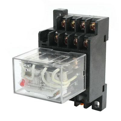 HH64P-L AC 110V 10A Coil 14-Pin 4PDT 4 Pole Electromagnetic Power Relay