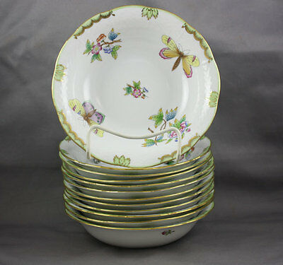 "Herend Queen Victoria VBO  Oatmeal Cereal Bowl 6 1/2"" Sold Individually #330"