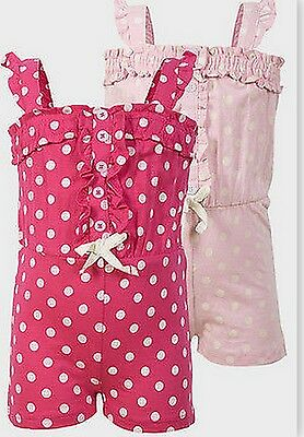 New BNWT baby girls  playsuit summer dress age 12-18 18-24 months 2-3 3-4 years